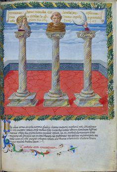 London BL - Harley 1340 f. 10r Three pillars (Pope Alexander) | Flickr – Condivisione di foto!