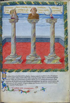 London BL - Harley 1340 f. 10r Three pillars (Pope Alexander)