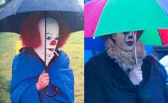 pennywise behind the scenes past and present It The Clown Movie, Love Movie, Funny Clown Memes, Ballora Fnaf, Bill Skarsgard Pennywise, Scary Drawings, Funny Photos Of People, Movie Decor, Pennywise The Dancing Clown