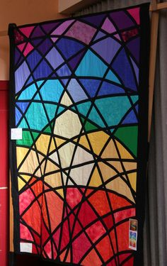 stained glass window quilt MADE BY MY MUM