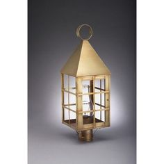 Northeast Lantern York 3 Light Lantern Head Finish: Dark Antique Brass, Shade Type: Seedy Marine