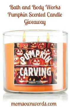 Bath & Body Works Pumpkin Candle #Giveaway 14.5 oz. 11/2