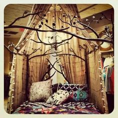 Canopy and tree bed frame
