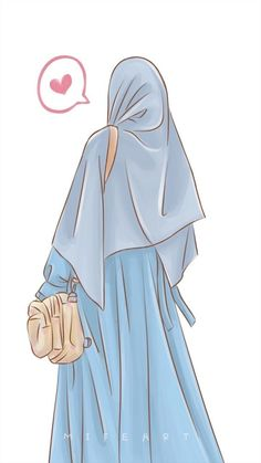 Arab Girls Hijab, Muslim Girls, Hijabi Girl, Girl Hijab, Beautiful Anime Girl, Beautiful Hijab, Muslim Pictures, Hijab Drawing, Islamic Cartoon
