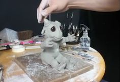 Inner Grip - Nooshy, the Baby Blue Dragon - Sculpture Demo