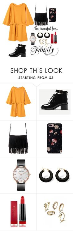 """Untitled #177"" by sarafae ❤ liked on Polyvore featuring MANGO, Palm Beach Jewelry and Max Factor"