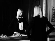 Hedi Slimane's Saint Laurent collection by Anja Rubik