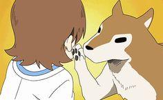 """Aioi Yuuko """"Yukko"""" + Buddy the Sympathy Dog — nichijou Gifs, Fruit World, Danshi Koukousei No Nichijou, Manga Anime, Anime Art, Animes On, Vash, Cartoon Tv, Anime Shows"""