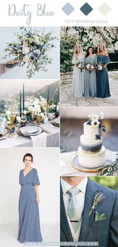 10 Perfect Shades of Green Wedding Color Ideas for Spring/Summer 2019 - Oh Best Day Eversage green and dusty blue wedding color DIY Wedding Decorations That Will Make A Spring Wedding Memorable - Summer Wedding Colors, Summer Weddings, Summer Wedding Inspiration, Wedding Ideas Green, Green Spring Wedding, Navy Wedding Colors, Romantic Weddings, Blue Suit Summer Wedding, Color Wedding Dresses