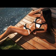 swimwear sexy black bikini black and white cute bikini sexy