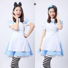 Hot Sale Alice in Wonderland Costume Lolita Dress Maid Cosplay Fantasia Carnival Halloween Costumes for Women Classic Halloween Costumes, Halloween Cosplay, Halloween Masks, Halloween Ideas, Maid Cosplay, Cosplay Outfits, Alice Cosplay, Princess Dress Kids, Princess Costumes