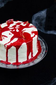Red Velvet Cake für Halloween