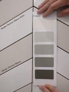 Equipe Chevron tiles Blanco/White/Bianco matt & brillo
