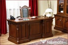 Birou din lemn masiv (simple sau cu sculptură manuală) Entryway Tables, Buffet, Cabinet, Storage, Furniture, Home Decor, Image, Jelly Cupboard, Buffets