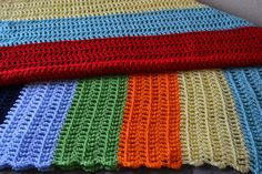 SOLD***Handmade Large Multicolored Striped  Crochet by TsEclecticCorner, $40.00