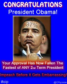 "Congratulations! Obama Approval Crashing at 37%.... I have just one question: ""What is wrong with that 37%?"""