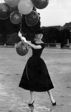 like Audrey... #LittleBlackDress #OuterDress