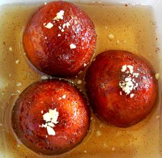 Gulab Jamun with Cardamom/Rose Syrup.  The richest, most decadent dessert EVER.