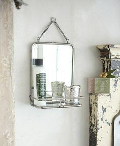 Hanging mirror.