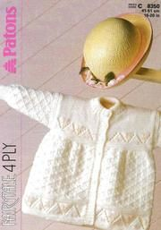 Patons 8350 baby matinee coat vintage knitting by Ellisadine, Vogue Knitting, Knitting Books, Knitting For Kids, Vintage Knitting, Patons Free Knitting Patterns, Baby Cardigan Knitting Pattern Free, Crochet Pattern, Free Pattern, Baby Girl Patterns