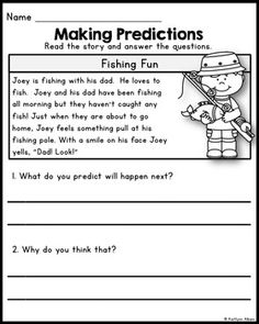 Reading Comprehension - Making Predictions Passages