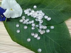 6 Hours Left Until The End Of The Amazing $1.75 Sale! 7mm Flower Bead Caps  50 Count by SkullMoto on Etsy, $1.75