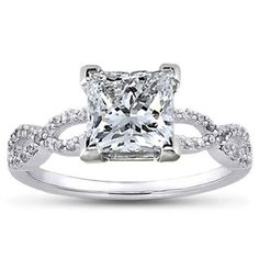 Platinum Infinity Diamond Ring $1,675. oh man this is one of the most stunning rings ever, Im a huge fan I love that the infinity is the band!