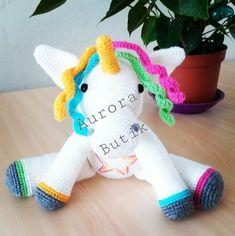 #amigurumi #amigurumibebek#örgübebek#handmade #unicorn Dinosaur Stuffed Animal, Toys, Animals, Amigurumi, Animaux, Animales, Games, Animal, Dieren