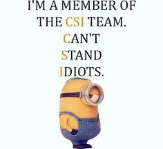 I'm a member of the CSI Team