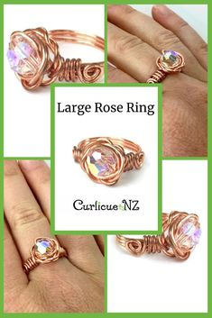 Handmade in either copper or Eco Sterling Silver wire, you can instantly add charm to your look with this elegant ring