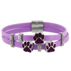 Double Up Purple Paw Charm Bracelet at The Animal Rescue Site