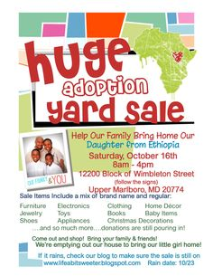 adoption yard sale flyer photo by michelle365 photobucket sale flyer fundraisers yard sale