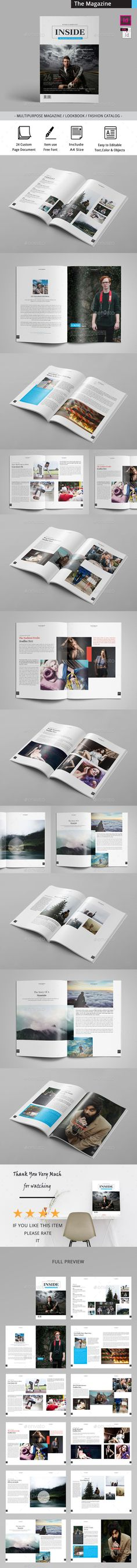 The Magazine by obayes  Brochure Description:The Magazine / Clean & Professional Magazine Template that is super simple to edit and customize with your o