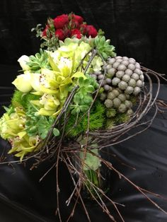 Succulents, Orchids & Birch Bridal Bouquet. Wedding Show 2013. #BridalBouquet #WeddingFlowers #Flowers
