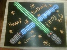 Star Wars Cake Cupcakes Use glow sticks to make your lightsaber light up!