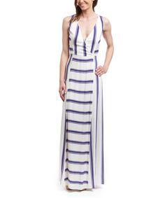 Look what I found on #zulily! Navy Stripe Maxi Dress by Ella Moss #zulilyfinds
