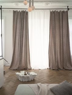 Curtains, Home Decor, Homes, Blinds, Decoration Home, Room Decor, Draping, Home Interior Design, Picture Window Treatments