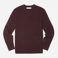 Classic sweater in a seasonally appropriate color