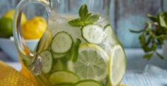 Photo about Fruit water with lemon, lime, cucumber and mint in glass pitcher. Image of juicy, lime, lemonade - 54555252 Fruit Water, Lemon Water, Healthy Tips, Healthy Skin, Healthy Water, Healthy Snacks, Mint Detox Water, Health And Beauty, At Home Spa