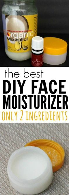 You are going to love this homemade face cream. With only 2 ingredients anyone can make this DIY face moisturizer cream. I promise you are going to love this easy and frugal DIY face moisturizer! Homemade Face Moisturizer, Homemade Skin Care, Homemade Beauty Products, Diy Skin Care, Coconut Oil Face Moisturizer, Facial Cleanser, Natural Products, Tea Tree Oil Moisturizer, Best Organic Face Moisturizer