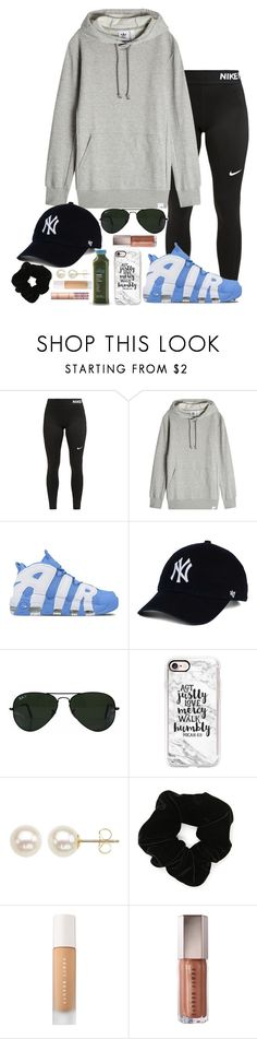 """""""Untitled #445"""" by valerienwashington ❤ liked on Polyvore featuring NIKE, adidas Originals, Ray-Ban, Casetify, Honora, Forever 21, Puma and tarte"""