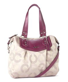 Another great find on #zulily! Berry OP Art Ashley Hobo by Coach #zulilyfinds