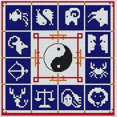 Resultado de imagen para signos del zodiaco en punto de cruz
