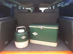 Old steel-belted Coleman cooler. My Dad used to have one :)