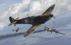 Robert Stanford Tuck Spitfire Mk1 N3249 flown by Flight Lieutenant RS Tuck 92 Squadron, 23 May 1940