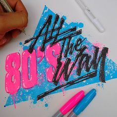 Any 80's in tha house ?? Say YEAH!!! #80s #type #typographyart #typespire #goodtype #calligritype #typegang #thedailytype #designspiration #thedesigntip #illustration #inspiration #art #sketch #illustration #tyandca #typematters #showusyourtype #sharpie #neon #lefty #instagram #tipografia #ilovetype sorry bros lol @alex75rod @hussbunny