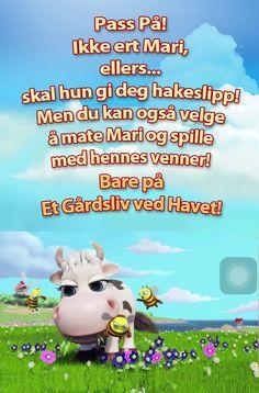 Har du spillet Et Gårdsliv ved Havet før? Kom å bli naboen min og ta en titt på min pene gård! Kua mi, Mari, er en berømt stjerne nå. Klikk her for mer informasjon!