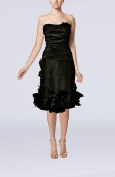 Taffeta Sweetheart Elegant Cocktail Gowns - Order Link: http://www.theweddingdresses.com/taffeta-sweetheart-elegant-cocktail-gowns-twdn6696.html - Embellishments: Ruching , Flower; Length: Knee Length; Fabric: Taffeta; Waist: Natural - Price: 87.99USD