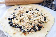 Blueberry Almond Streusel Galette by @Maria Canavello Mrasek Canavello Mrasek (Two Peas and Their Pod)