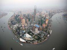 Shanghai City, New York Skyline, Land, Urban, Skyscrapers, Travel, China, Fotografia, Viajes